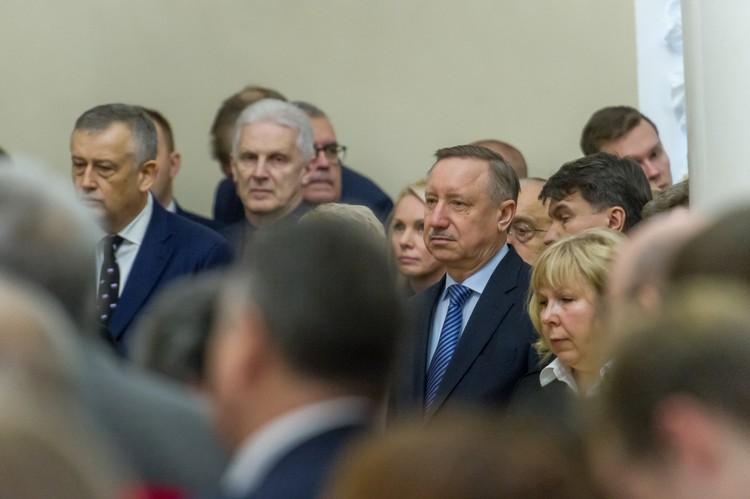 Церемонию посетили первые лица Петербурга и Ленобласти.