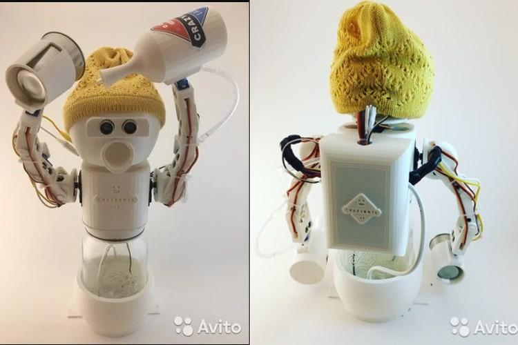 Робот-собутыльник собственной персоной. Сумрачное (но милое) творение петербургского инженера-самоучки. Фото: Скриншот сайта Avito