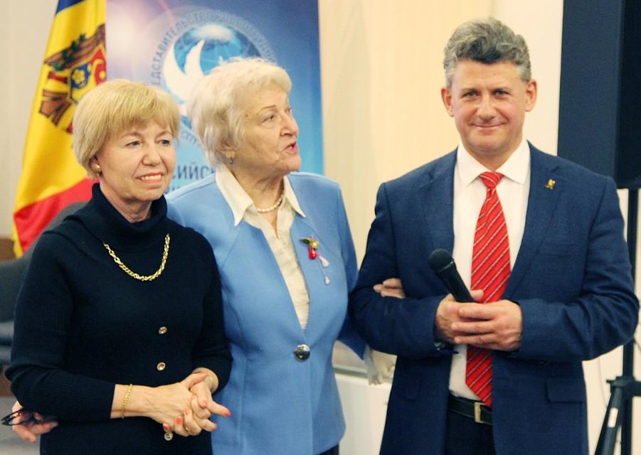 Ольга Батаева, председатель Русской общины Людмила Лащенова и Михаил Лупашко.