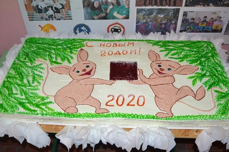 Тот самый торт для участников соревнований. Фото: минспорта ДНР