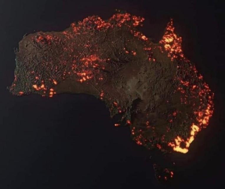 Агентство NASA показало Австралию из космоса