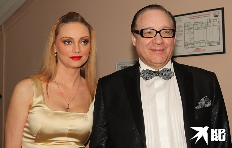 Максим Дунаевский с женой Мариной, 2011 год.