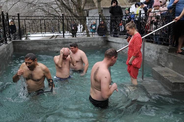Крещенские купания в Ставрополе.