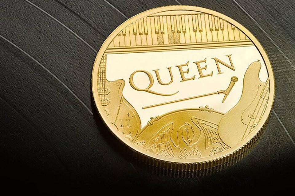 Золотая памятная монета Queen. Фото: Royal Mint