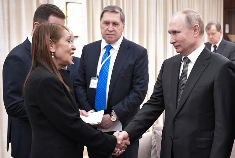 Президент России встретился в Иерусалиме с Яффой Иссахар
