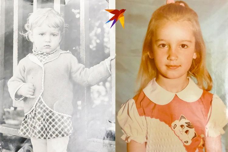 В детстве Оля была очень миленьким ребенком.