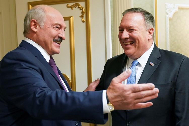 Александр Лукашенко и Майкл Помпео.
