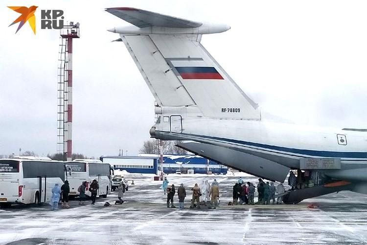 Россиян из Уханя доставил в Тюменскую область самолет Ил-76 ВКС России.