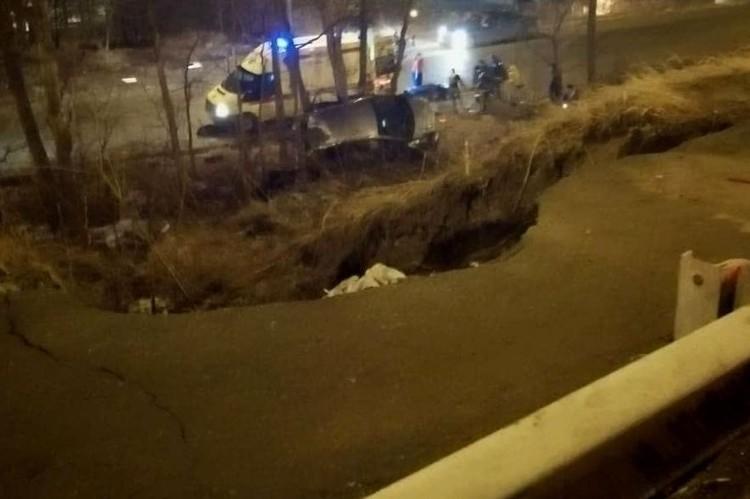 Машина съехала с проезжей части и перевернулась. Фото: dps.control