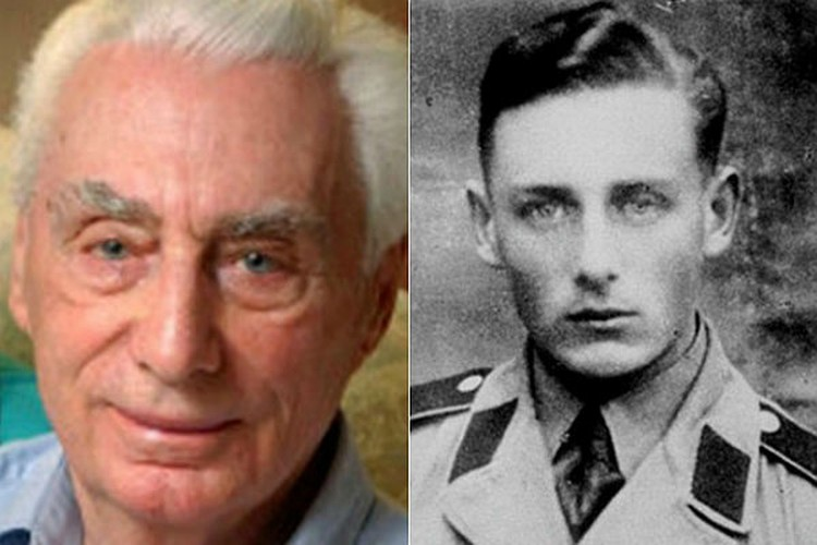 Гельмут Оберлендер в годы войны (слева) и сейчас.