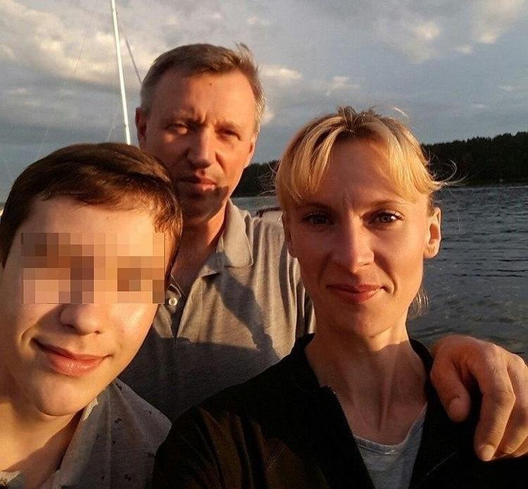 Вадим Янголенко, Дарья Ефимова и их сын Ростислав.