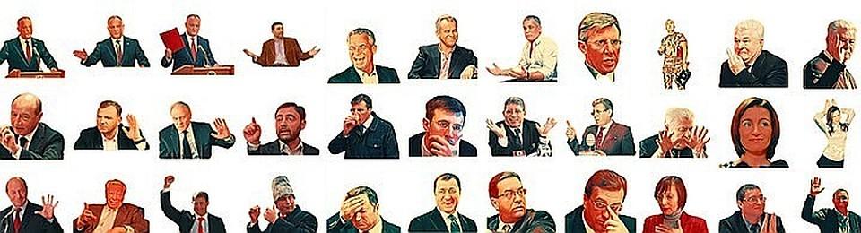 Самые популярные стикеры в молдавском Телеграме.