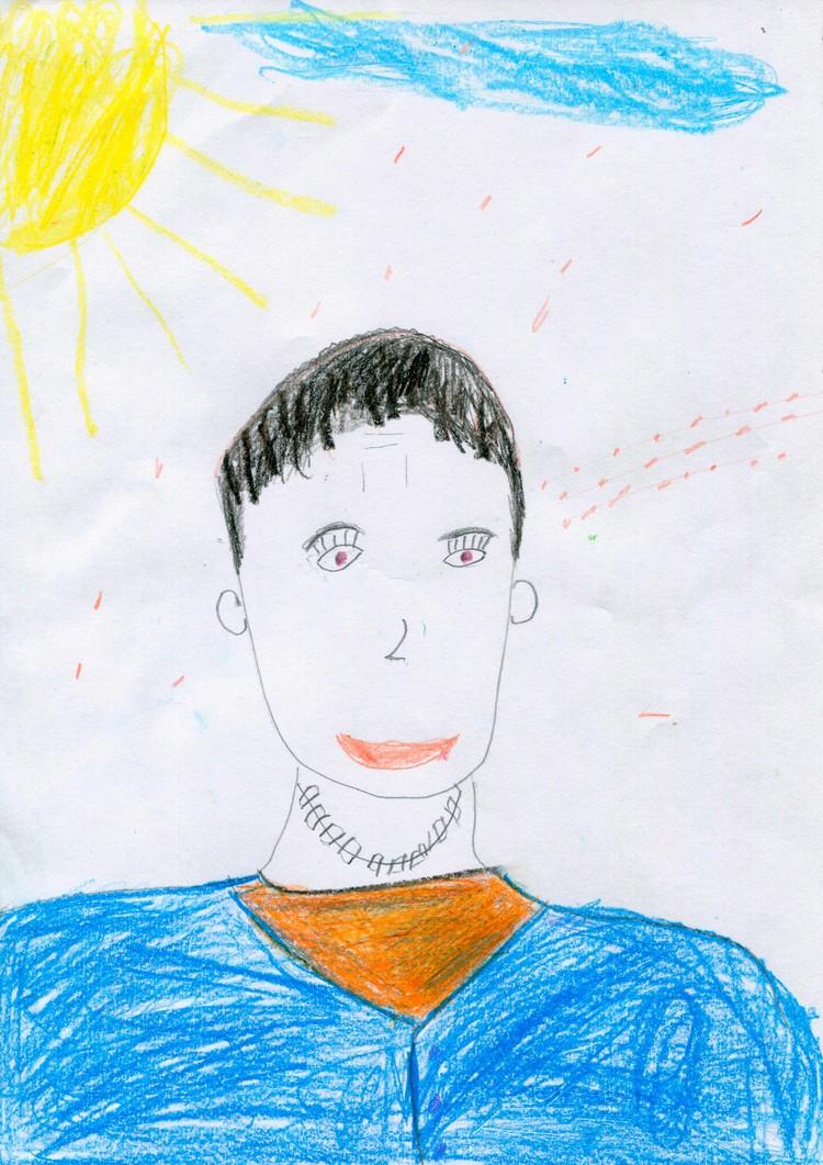 Портрет папы Юры.