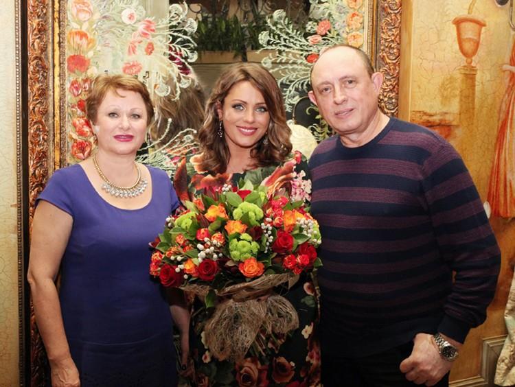 Юлия с родителями