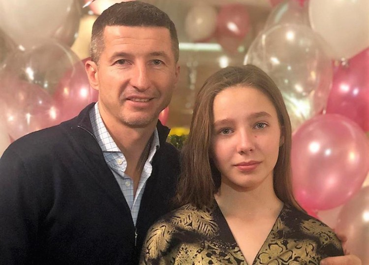 Евгений Алдонин с дочкой Верой