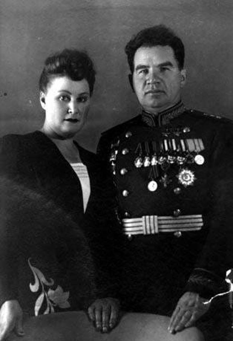 Валентина Петровна Чуйкова вместе с мужем