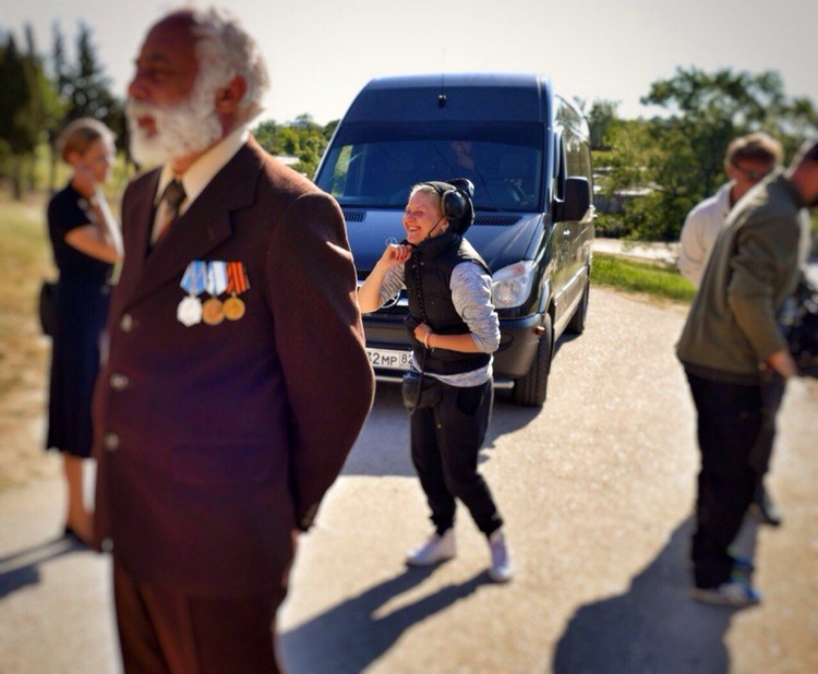 Рабочий момент. Залим и режиссер Светлана Суханова. Фото: из архива Залима Мирзоева