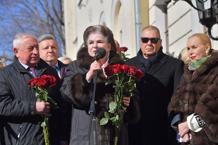 Валентина Терешкова и вдова Нелли Кобзон.