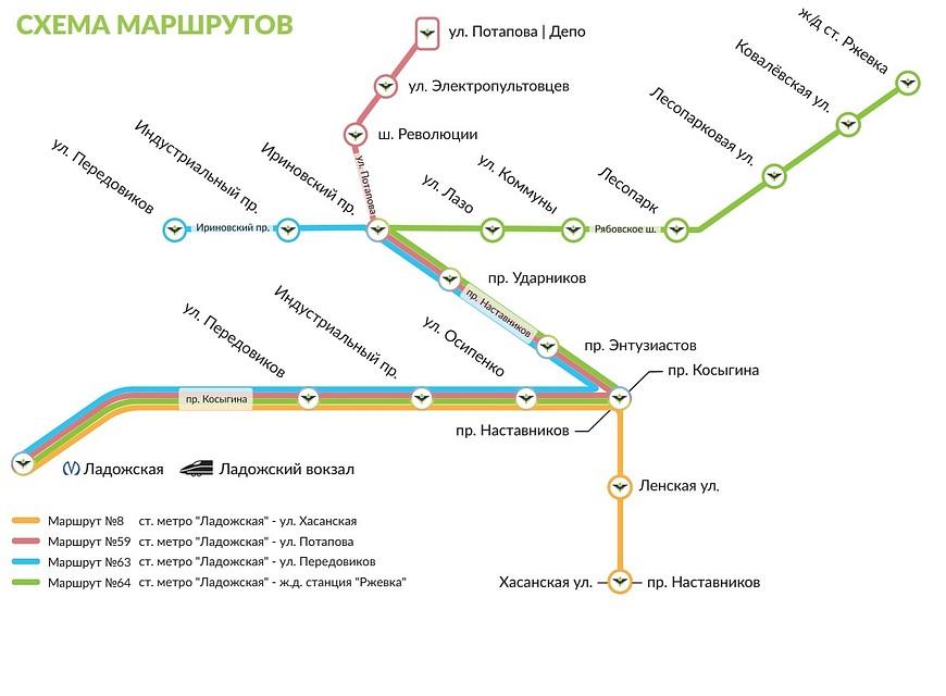 Схема движения трамваев «Чижик». Фото: «Транспортная концессионная компания»
