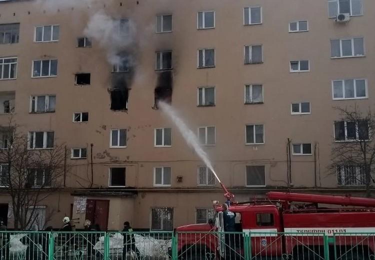 Пожар в пермской пятиэтажке.