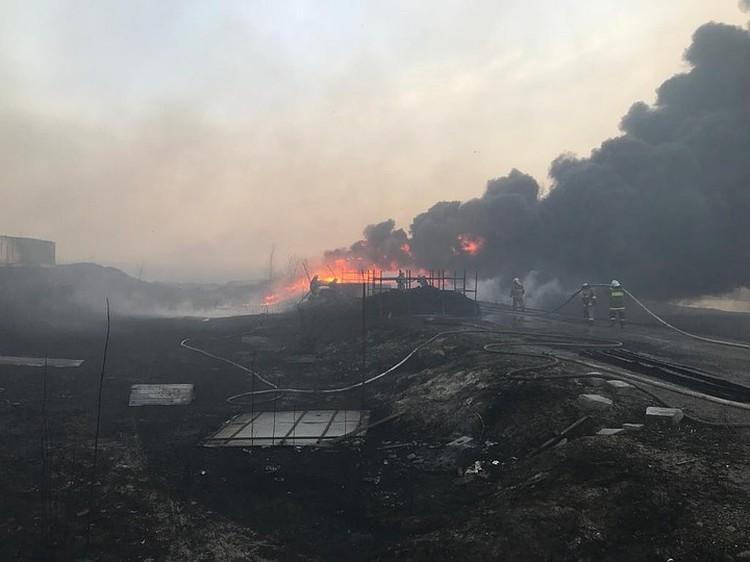 В огне погиб пожарный. Фото: ГУ МЧС России по РО.