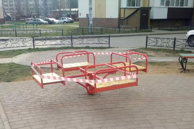 Липчанам запретили гулять на детских площадках из-за коронавируса