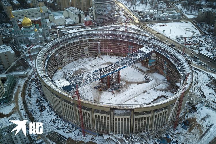"""Реконструкция """"Олимпийского"""" идет по графику."""