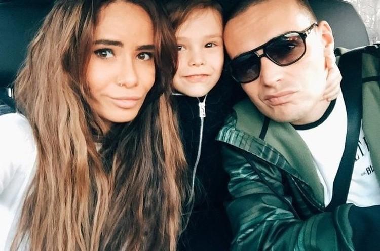 Гуф и Айза с сыном.