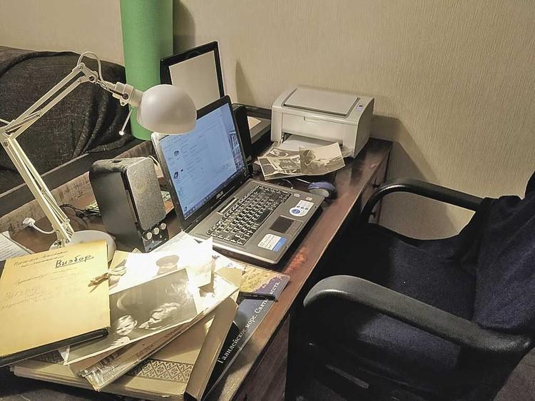 Рабочее место Татьяны Визбор. Фото: Личный архив.