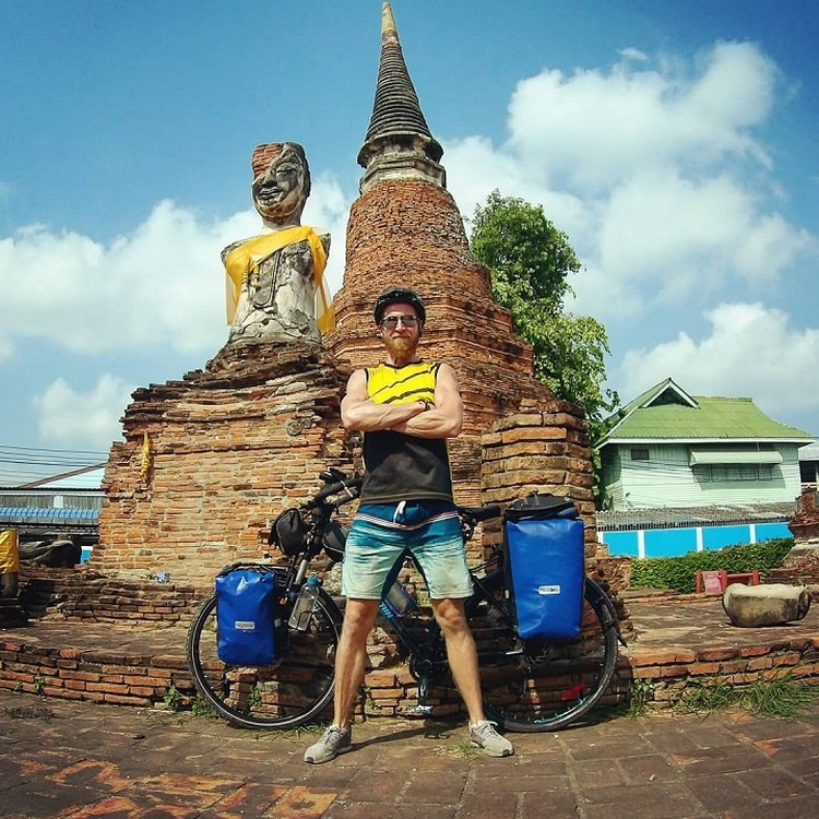 Сердловчанин путешествует по Азии на велосипеде с февраля. Фото: предоставлено героем публикации.