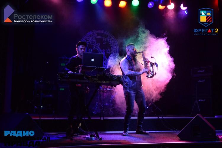 Музыкальный сюрприз для слушателей концерта - выступление саксофониста Михаила RADO и DJ Solncev