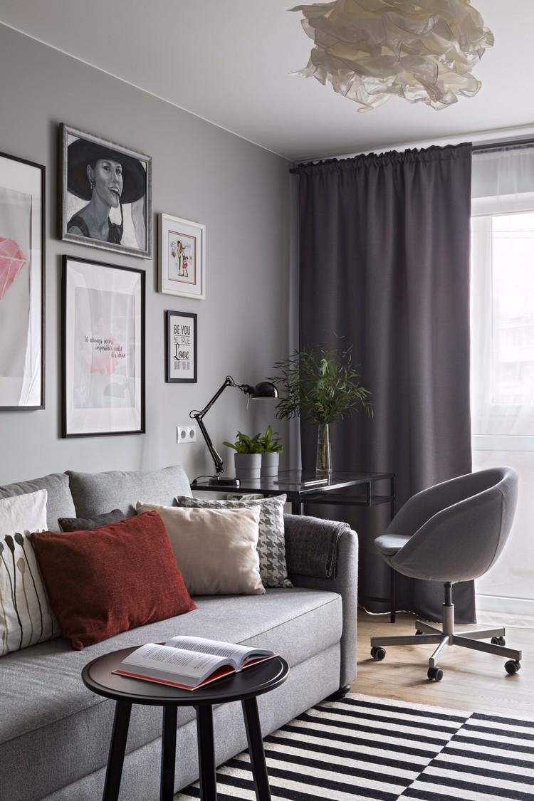 Создать атмосферу в квартире можно с помощью недорогих вещей. Светильник на потолке в гостиной был куплен за 5 евро. Фото: Егор Пясковский