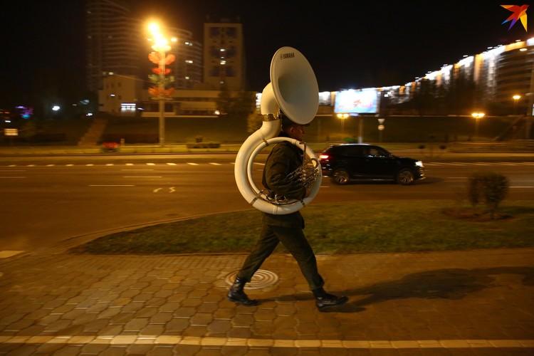 После репетиции оркестра.