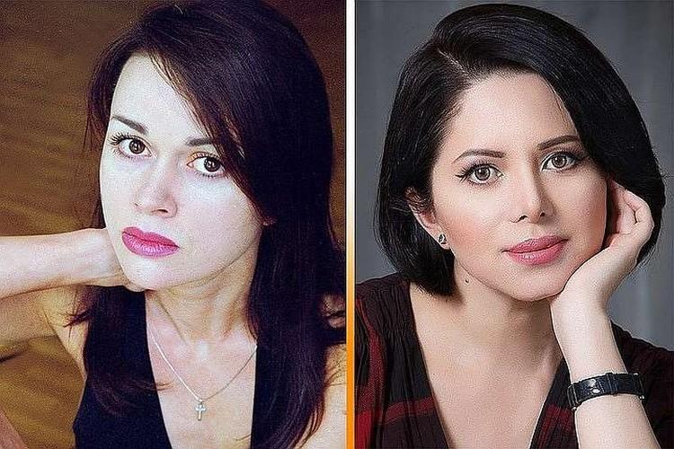 Новая подруга Жигунова Виктория Ворожбит (справа) - копия Анастасии заворотнюк (слева). Фото: Инстаграм.