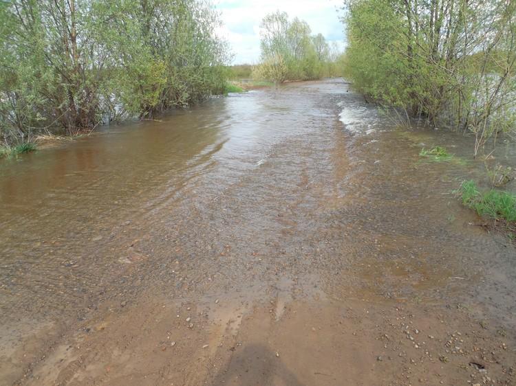 Фото: Сергей Макаров. Дорога в Нечкино после потопа