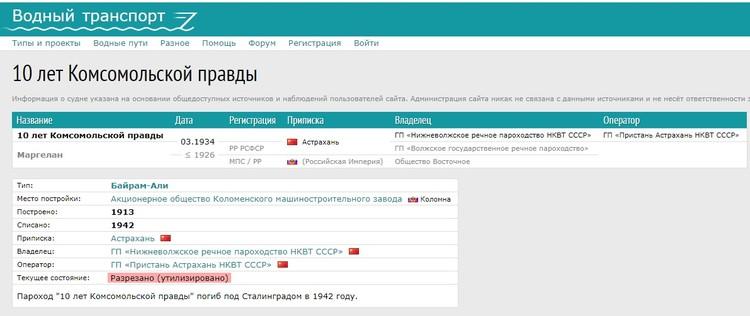 После революции «Маргелан» был передан «Волжскому государственному речному пароходству», а с 1934 приписан к Нижневолжскому речному пароходству НКВТ СССР и через пару лет переименован в «10 лет Комсомольской правды».
