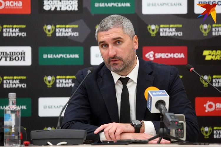 Кирилл Альшевский на послематчевой пресс-конференции.