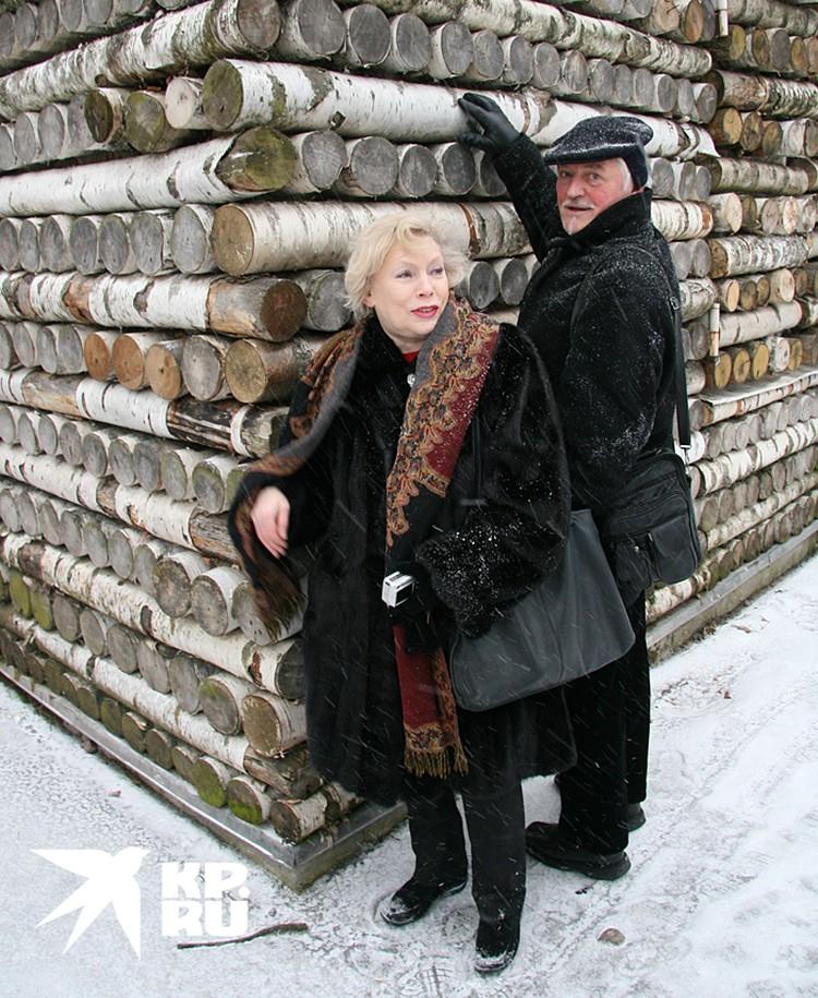 Актриса Алла Будницкая и ее муж кинорежиссер Александр Орлов