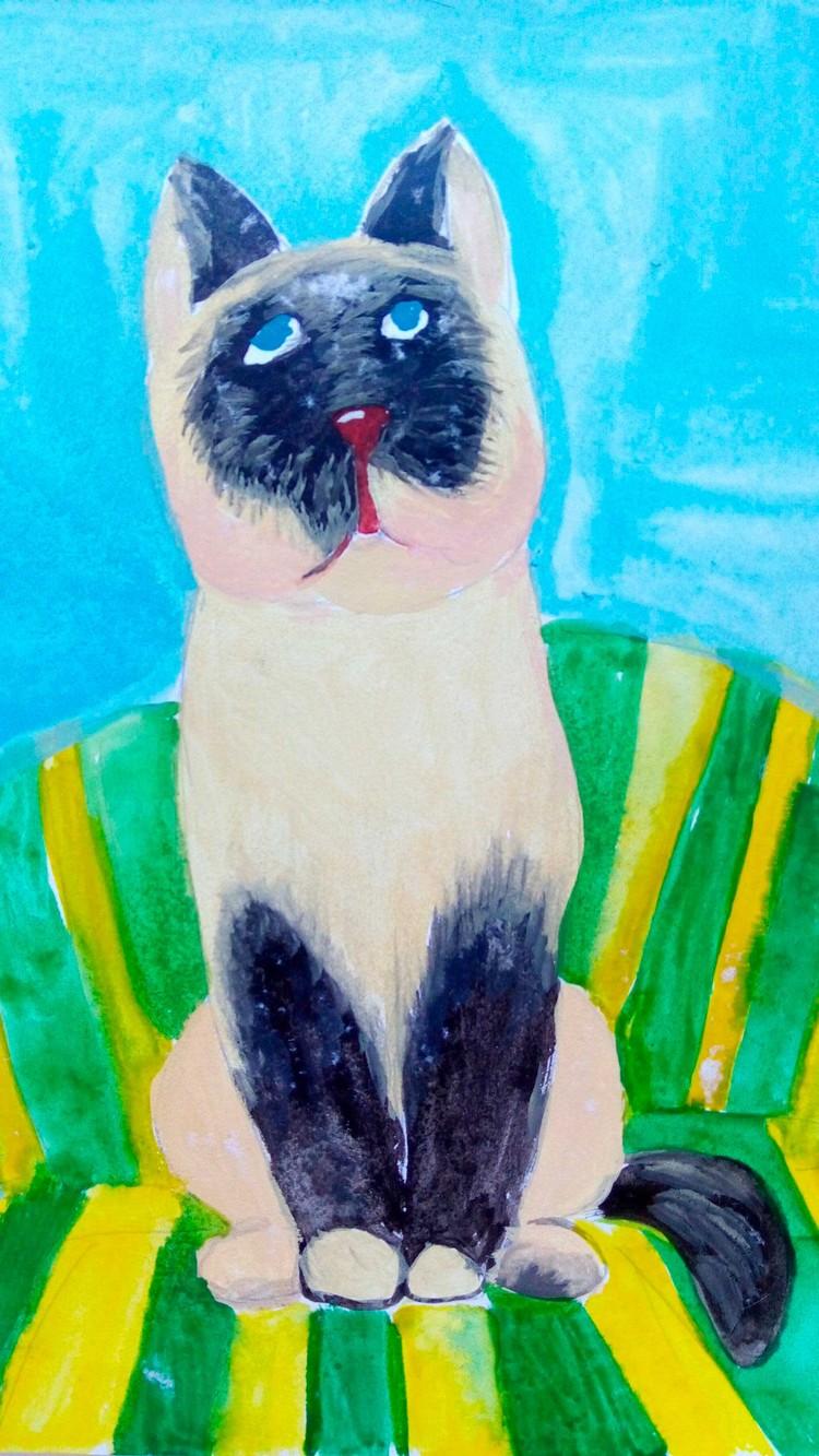 Кошка Сима Полины Трофимовой.