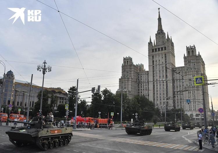 В столице прошла репетиция Парада Победы