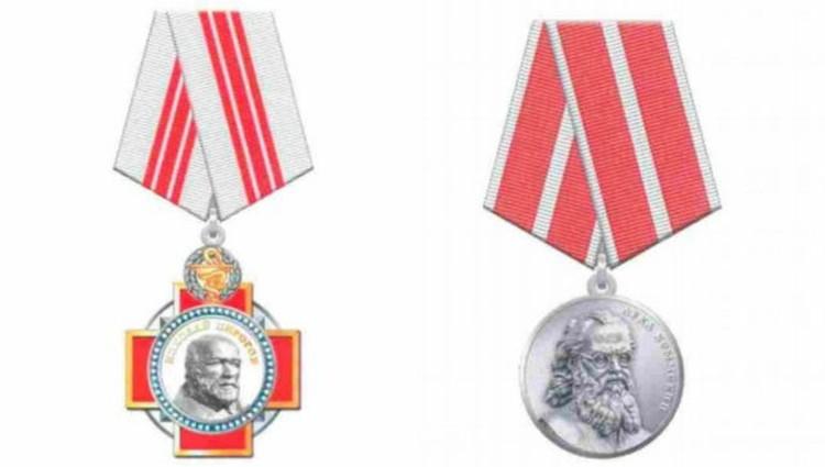 Медаль Луки Крымского и орден Пирогова.