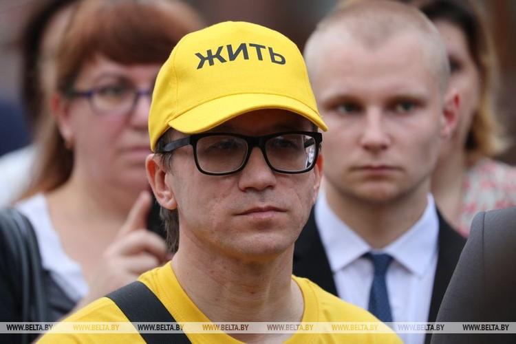 Правозащитник Роман Кисляк на встрече с президентом. Фото: belta.by
