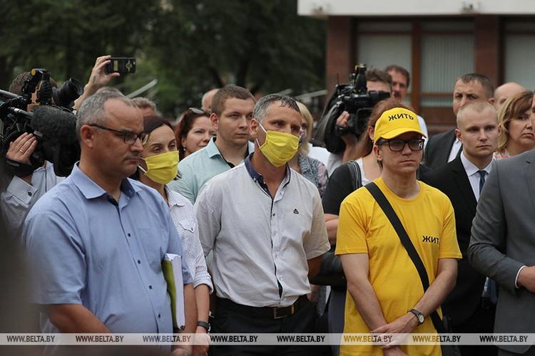 Протестующие против завода на встрече с президентом 22 июня. Фото: belta.by