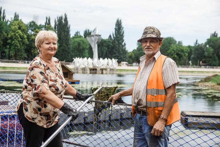 Татьяна Борисовна и Виктор Иванович, рабочие парка
