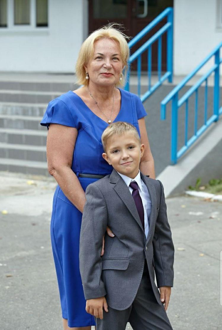 Светлана Соловьева с любимым внуком.