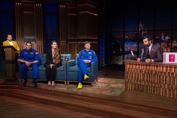 На передаче Олег Кононенко назвал дату полета Анны в космос. Фото: Степан Третьяков.