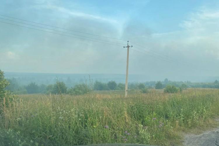 Дым распространился по всему району. ФОТО читателя КП-Ярославль