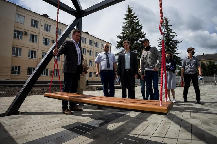 """Александр Муромский: """" Нужно, чтобы собственники хозобъектов, расположенных рядом со сквером, привили в порядок свои фасады, рекламные конструкции и проходные"""