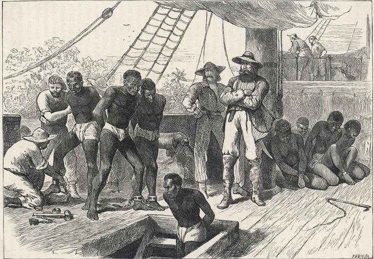 Рабовладельческий корабль 1830 год