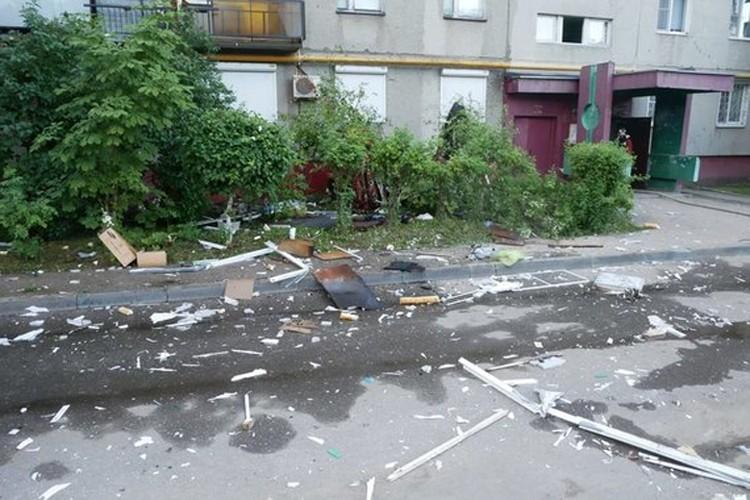 Появились фотографии с места взрыва газа на улице Краснодонцев в Нижнем Новгороде